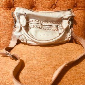 Liebeskind Berlin blush leather shoulder bag med